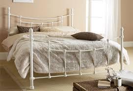 hyder tuscany ivory white cast metal 5ft kingsize bed frame