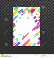 Design Folder Cover Bright Colorful Trendy Minimalistic Design Lines Folder