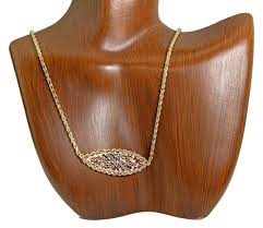 women s fancy hand cut pendant rope chain 14k real gold simple in oesejc7737 precious metal without stones