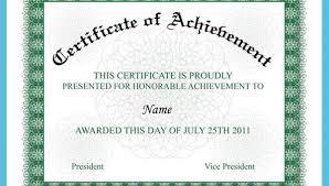 Achievement Awards Templates Certificate Of Achievement 15 Pdf Psd Ai Word