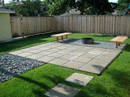 simple outdoor patio ideas. Diy Backyard Stone Patio Cheap Floor Ideas  For Small Gardens Simple Outdoor