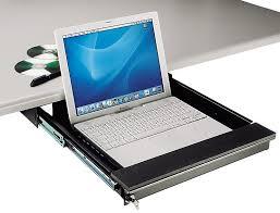 tecnec under desk mount lockable laptop drawer for laptops to 17 in zoom