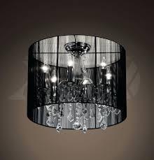 full size of black drum shade chandelier 8 light crystal chandelier with black silver shade black
