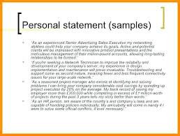 Examples Of Personal Statements For Cv Cv Template Personal Statement Castbuddy Me