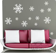 Schneeflocke Winter Fensterdeko Fenster Weihnachten Wandaufkleber Aufkleber Deko