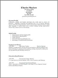 free personal employment history job cv template free sample resume templates examples voipersracing co