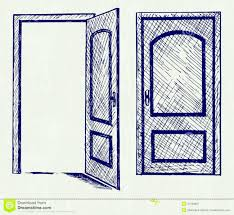 drawing of an open door collection high quality free cliparts