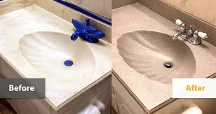 cultured marble bathroom sinks. kansas city refinished cultured marble vanity before and after examples bathroom sinks l