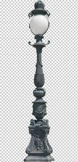 Street Light Lamp Lantern Lighting Lights Gray Wooden Lamp Post