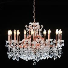 large 12 branch copper rose gold shallow chandelier