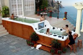 above ground hot tub s backyard design ideas