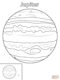 Small Picture Jupiter Planet coloring page Free Printable Coloring Pages