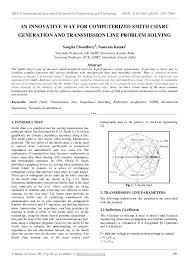 Pdf An Innovative Way For Computerized Smith Chart