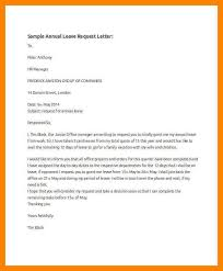 Annual Leave Letter Sample All About Letter Examples