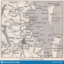 Map Of Brisbane And Moreton Bay 1900s ...