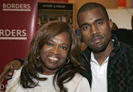 Kanye West with his mother Donda ...