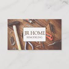 Home Renovation Construction Business Card Custom Construction