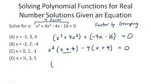 problem solving polynomial functions
