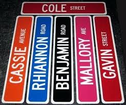 custom personalized street signs made