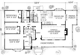 farmhouse style house plan 3 beds 2 baths 1600 sq ft 302 204 outstanding plans one