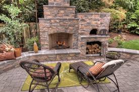 patio designs with fireplace. Outdoor Fireplace With Pizza Oven \u2013 Traditional Patio Portland In Brick Designs R