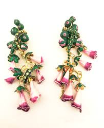 lunch at the ritz couture earrings foxy flowers whimsical jewelry on nvy