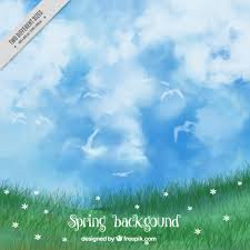 grass and sky backgrounds. Grass Background And Pretty Watercolor Sky Free Vector Backgrounds Y