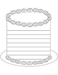 writing worksheets birthday activities at com cake shape poem