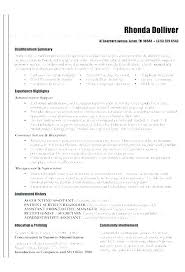 Career Summary Examples Career Summary Examples Sales In Resume Skill Ability Section Of