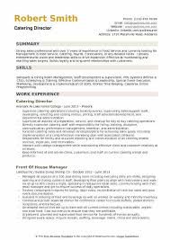 Prepared billing ensured prompt receipts and. Catering Director Resume Samples Qwikresume
