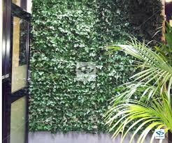 faux green ivy office interior install