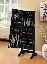 bracelets black mirrored jewelry cabinet amoire w stand mirror rings necklaces bracelets