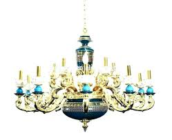 antique porcelain chandelier rose chandeliers with gold plated brass carved arms 6 lights cera
