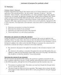Statement Of Purpose Graduate School Example 11 Statement Of Purpose Samples Pdf Word