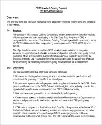 Catering Agreement Sample Catering Contract 15 Examples In Pdf Word