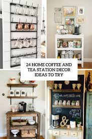 coffee station furniture. 24 Home Coffee And Tea Station Décor Ideas To Try Furniture