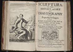 frontispiece from antique book sculptura or the history and art of chalcography by john evelyn