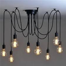 industrial style lighting 8 head vintage industrial style chandelier retro hanging pendant lamp ceiling light fixtures