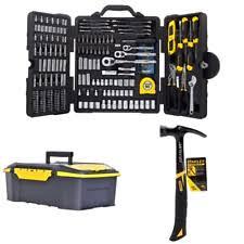 stanley tool kit. stanley household tool kit 210 piece mixed home repair mechanic toolbox \u0026 hammer p