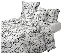 charcoal dots black dots cotton duvet cover contemporary duvet covers and duvet sets by roostery