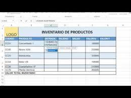 Inventario Excel Sisstema Sencillo De Inventario Excel