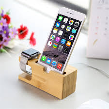 cell phone charger dock with watch bamboo holder desk wood charging stand for iphone 7 plus for apple watch stand in mobile phone holders stands from