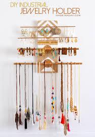 diy industrial jewelry organizer rack madeinaday com
