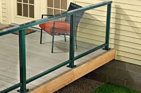 glass panel railing how to install a composite railing home improvement and repair