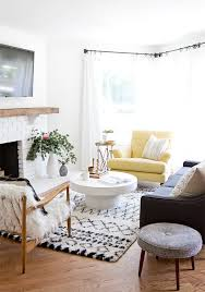 Modern bright living room Tiffany Blue Modern Rustic Living Room Makeover Before After Sarah Sherman Samuel Sarah Sherman Samuel Sarah Sherman Samuelrustic Modern Before After Sarah Sherman Samuel