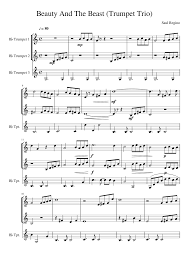 beauty and the beast sheet music beauty and the beast trumpet trio sheet music for trumpet tuba