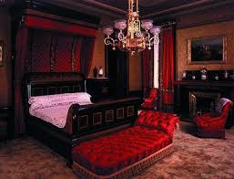 Luxury Bedroom Furniture Set In Gothic Style With Black Wooden Bed  regarding Gothic Style Bedroom Furniture
