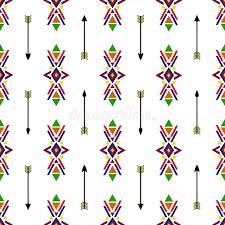 Seamless Geometric Ethnic Traditional Native American Indian Navajo