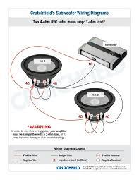 dual voice coil 4 ohm electronics car audio car audio dual voice coil 4 ohm