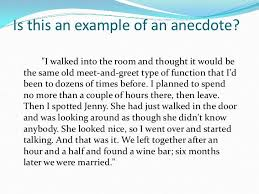 anecdote example using an anecdote in an introductory paragraph when i was young in the mountains
